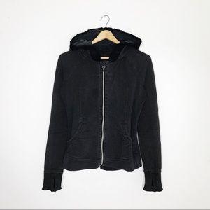 Lululemon Gray Black Scuba Full Zip Hoodie Jacket